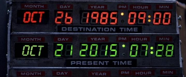 Today is the day Marty McFly goes to the future!